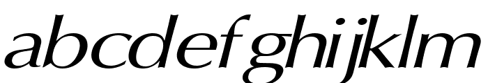 Oregon LDO Extended Oblique Font LOWERCASE