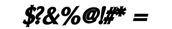 Oregon LDO ExtraBlack Oblique Font OTHER CHARS
