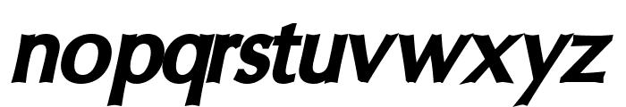Oregon LDO ExtraBlack Oblique Font LOWERCASE