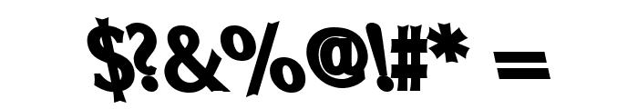 Oregon LDO ExtraBlack Sinistral Font OTHER CHARS