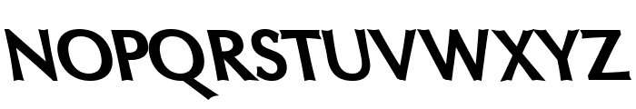 Oregon LDO ExtraBlack Sinistral Font UPPERCASE