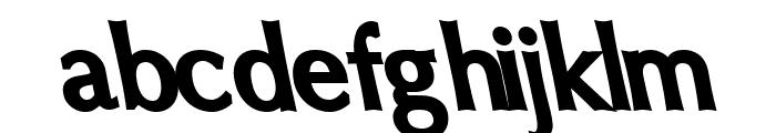 Oregon LDO ExtraBlack Sinistral Font LOWERCASE