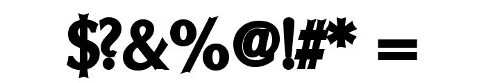 Oregon LDO ExtraBlack Font OTHER CHARS