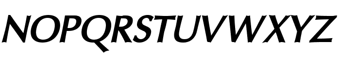 Oregon LDO ExtraBold Oblique Font UPPERCASE
