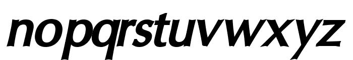 Oregon LDO ExtraBold Oblique Font LOWERCASE