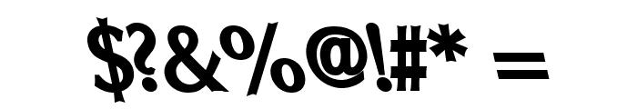 Oregon LDO ExtraBold Sinistral Font OTHER CHARS