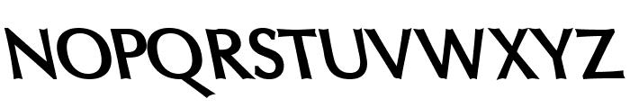Oregon LDO ExtraBold Sinistral Font UPPERCASE