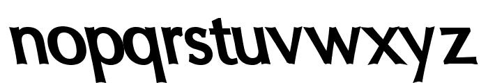 Oregon LDO ExtraBold Sinistral Font LOWERCASE