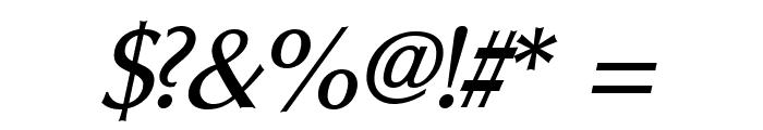 Oregon LDO Medium Oblique Font OTHER CHARS