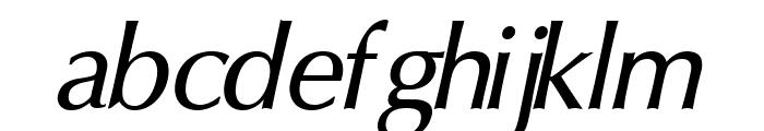 Oregon LDO Medium Oblique Font LOWERCASE