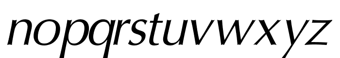 Oregon LDO Oblique Font LOWERCASE
