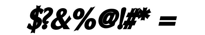 Oregon LDO UltraBlack Oblique Font OTHER CHARS