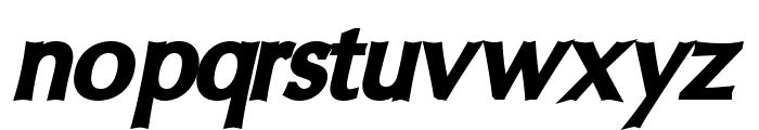 Oregon LDO UltraBlack Oblique Font LOWERCASE