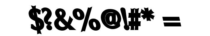 Oregon LDO UltraBlack Sinistral Font OTHER CHARS