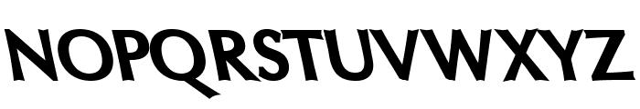 Oregon LDO UltraBlack Sinistral Font UPPERCASE