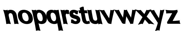 Oregon LDO UltraBlack Sinistral Font LOWERCASE