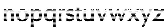 Oregon LDO Vanishing Bold Font LOWERCASE