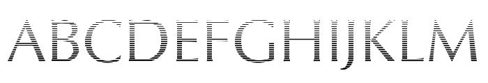 Oregon LDO Vanishing Font UPPERCASE