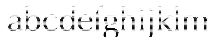 Oregon LDO Vanishing Font LOWERCASE