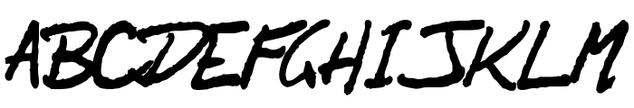 OrenScript Font UPPERCASE