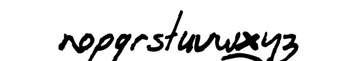 OrenScript Font LOWERCASE