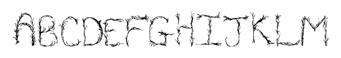 OrganicVines Font UPPERCASE