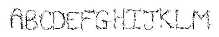 OrganicVines Font LOWERCASE