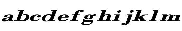Orgreave Extended Bold Italic Font LOWERCASE