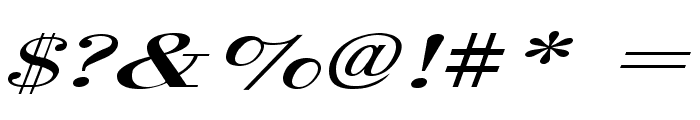 Orgreave Extended Italic Font OTHER CHARS