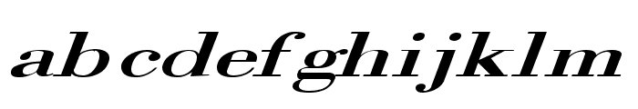 Orgreave Extended Italic Font LOWERCASE