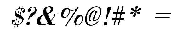 Orgreave Italic Font OTHER CHARS