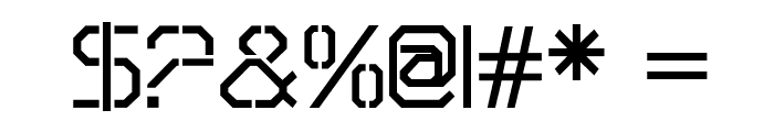 OricNeo Stencil Font OTHER CHARS