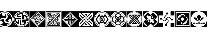 Orient Pattern Dings Set 1 Font UPPERCASE
