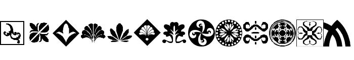 Orient Pattern Dings Set 1 Font LOWERCASE