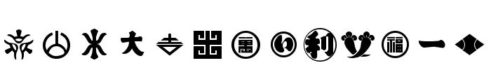Orient Pattern Dings Set 2 Font LOWERCASE