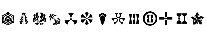 Orient Pattern Dings Set 3 Font LOWERCASE
