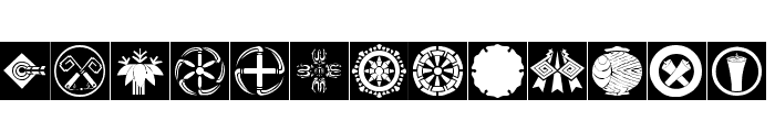 Orient Pattern Dings Set 4 Font UPPERCASE