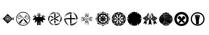 Orient Pattern Dings Set 4 Font LOWERCASE