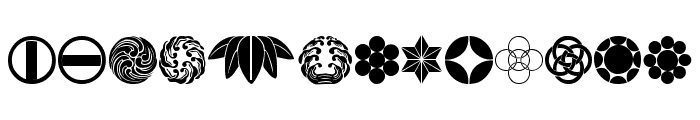 Oriental Icons IV Font LOWERCASE