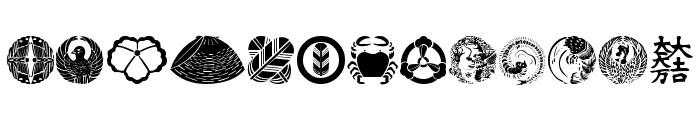Oriental Icons Font LOWERCASE