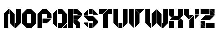 Origami Making Font UPPERCASE