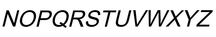 Orion Esperanto Kursiva Font UPPERCASE