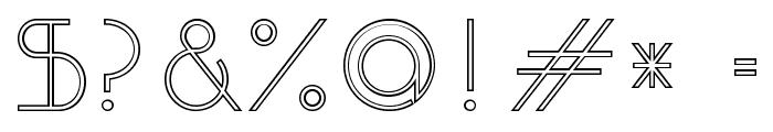 OrmontOutline Font OTHER CHARS