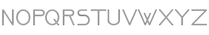 OrmontOutline Font UPPERCASE
