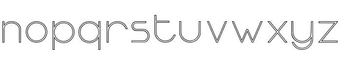 OrmontOutline Font LOWERCASE