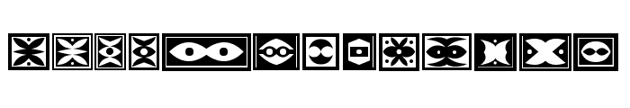 Ornament Borders Regular Font UPPERCASE