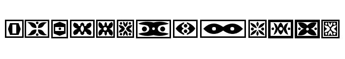 Ornament Borders Regular Font LOWERCASE