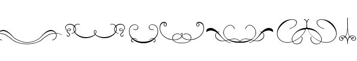 Ornament ScrollsAndFlorishes Font OTHER CHARS