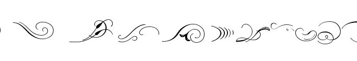 Ornament ScrollsAndFlorishes Font LOWERCASE