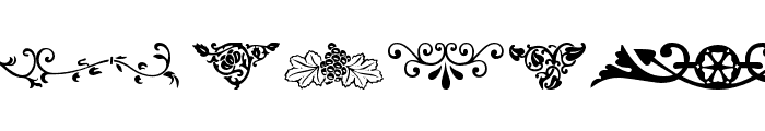 Ornamental Decoration Font LOWERCASE